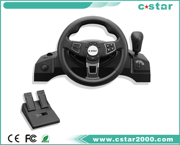 Video car games steering wheel for PS2/PS3/USB NS9843