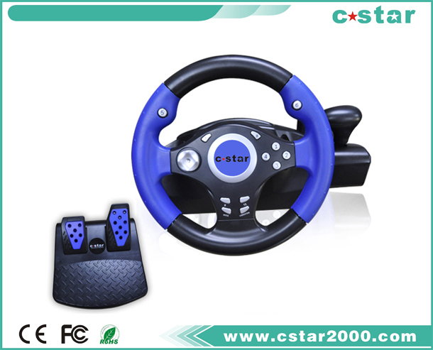 PS2/USB Steering Wheel,with suckers for fixed