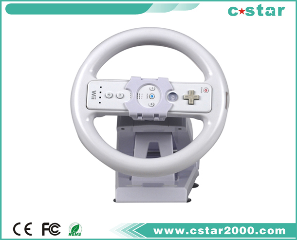 2 in 1 Wii Multi Axis Steering Wheel with Stand