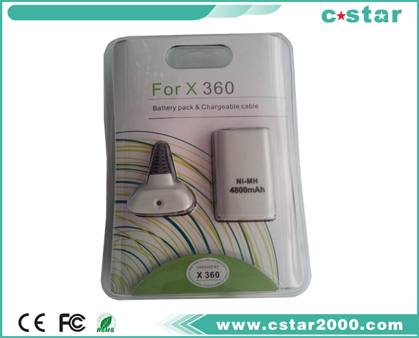 Battery pack & Chargeable cable for XBOX360